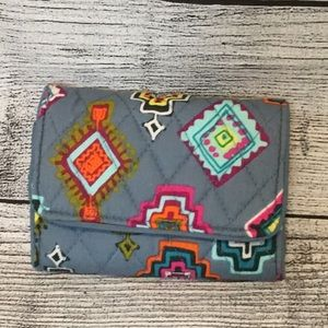 NWOT Vera Bradley Riley Compact Wallet Painted
